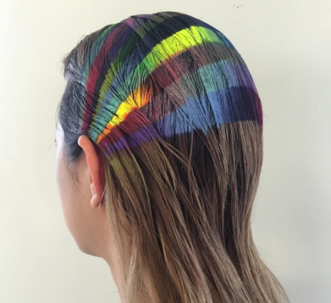 Spray-on rainbow headbands are taking over Instagram, and they look like gorgeous graffiti for your hair