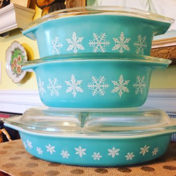 Get yourself to Goodwill and scour for vintage Pyrex, because it could be worth a fortune