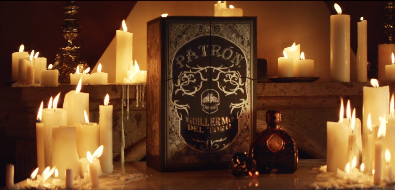 Guillermo del Toro teamed up with Patrón for this spooky tequila set