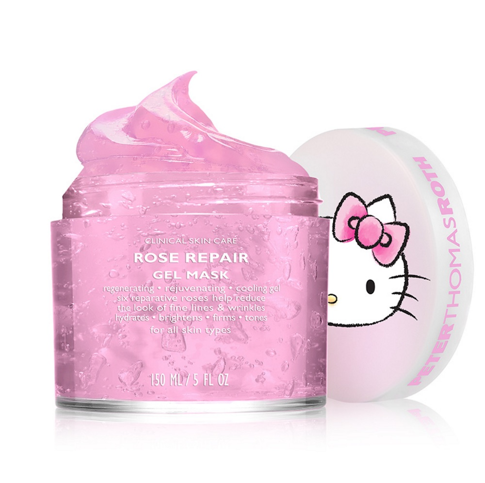 Peter Thomas Roth and Hello Kitty teamed up to create a bubble gum-colored gel mask, and we're tickled pink