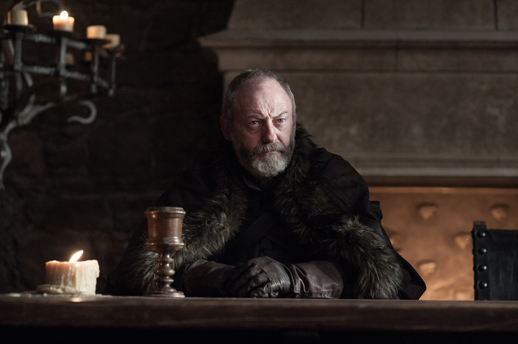 "Ser Davos has the perfect answer ready to go when he learns the inevitable news about Jon and Dany on ""Game of Thrones"""