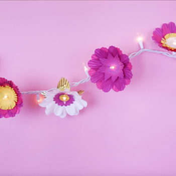 These DIY cupcake flower lights will be an oh-so-sweet addition to any room