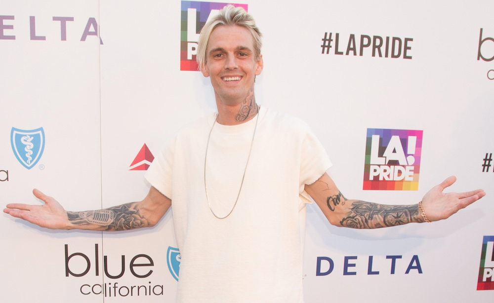Aaron Carter just came out as bisexual on Twitter, and we're sending lots of support his way