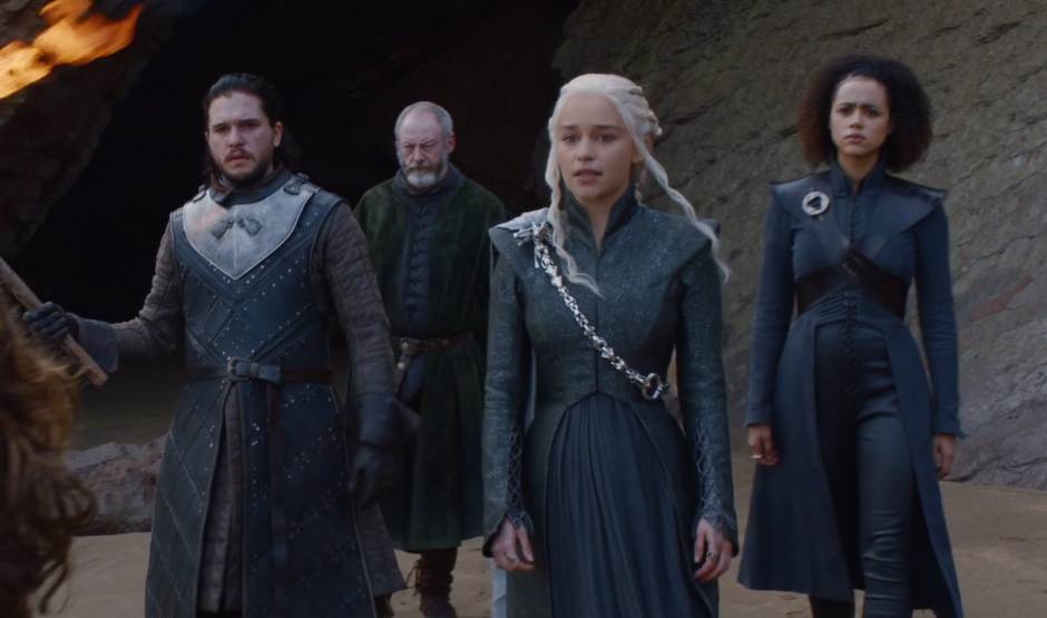 "Davos is hardcore shipping Jon and Dany on ""Game of Thrones,"" and yes, this is a little weird"