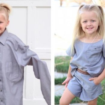 This mom uses her husband's old shirts to make the most stylish outfits for her daughters