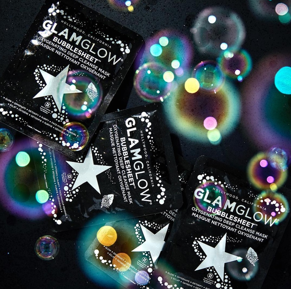 GlamGlow just dropped the first sheet mask of its kind, and it's like a bubble bath for your face