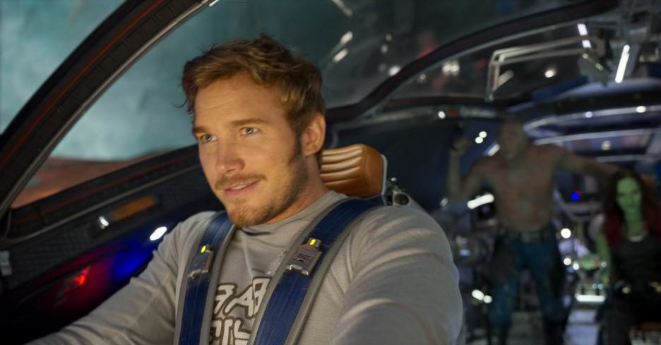 "Watch Chris Pratt try, and fail, to fly through the air during the ""Guardians of the Galaxy Vol. 2"" blooper reel"