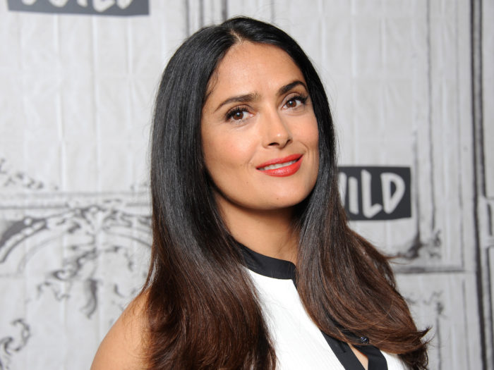 Salma Hayek, 50, Shows Off Her Incredible Bikini Body in Outdoor Shower