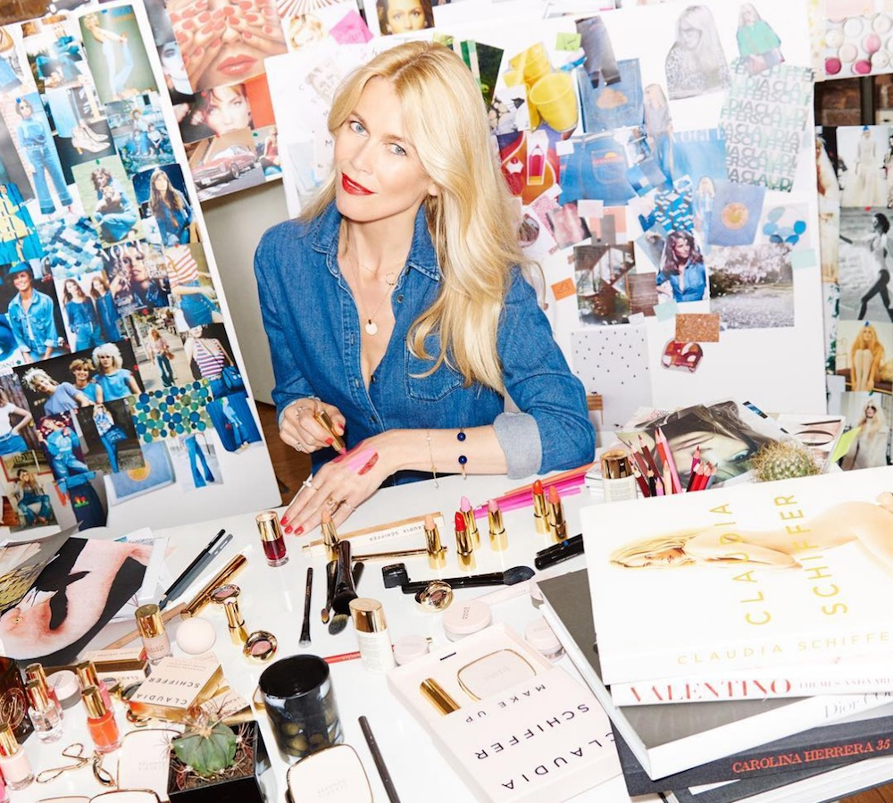 Supermodel Claudia Schiffer is launching a chic makeup line with ArtDeco Cosmetics