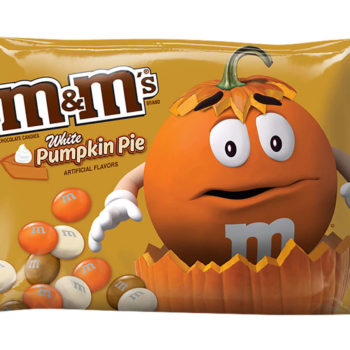 Pumpkin pie M&Ms are officially in stores, and we are so ready to try them