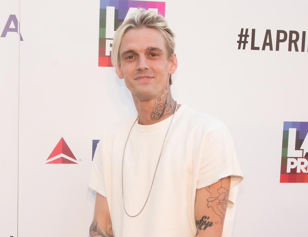 Aaron Carter was so touched by his fans' support that he got emotional at his first concert since coming out