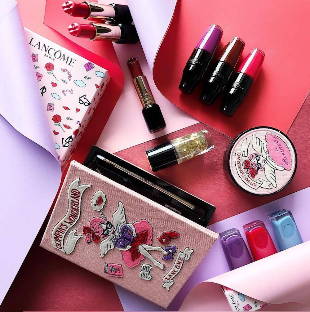 Here's the scoop on the super cute Lancôme x Olympia Le-Tan collection