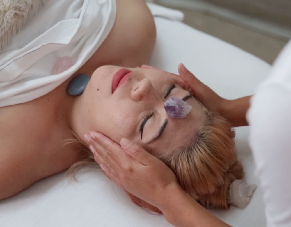 I got a crystal massage to help me focus before a really insane week