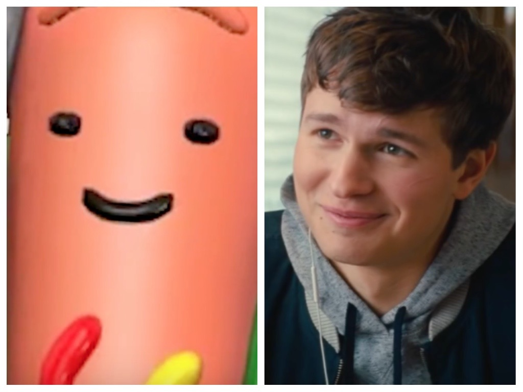 "Ansel Elgort was replaced with the Snapchat hot dog in the ""Baby Driver"" trailer"