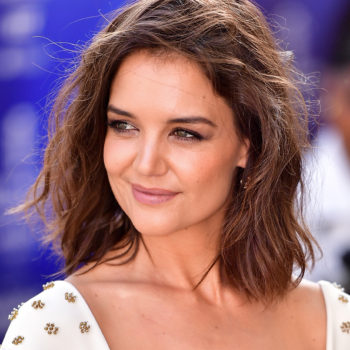 "Katie Holmes was ""spotted"" walking around New York City in a leopard jumpsuit"