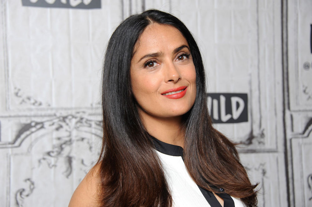Salma Hayek uses rose water instead of washing her face in the morning