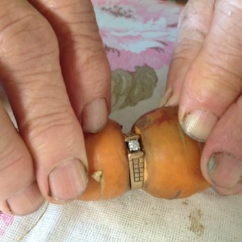 This woman lost her engagement ring while gardening, found it 13 years later on a carrot