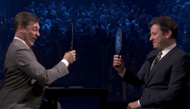 Jimmy Fallon couldn't keep it together in a funny face-off against Jon Hamm