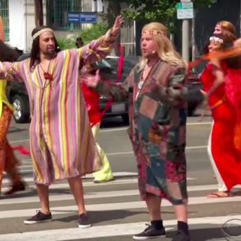 Lin Manuel Miranda and James Corden just got naked in the middle of the street, and we are ~Hair~ for it