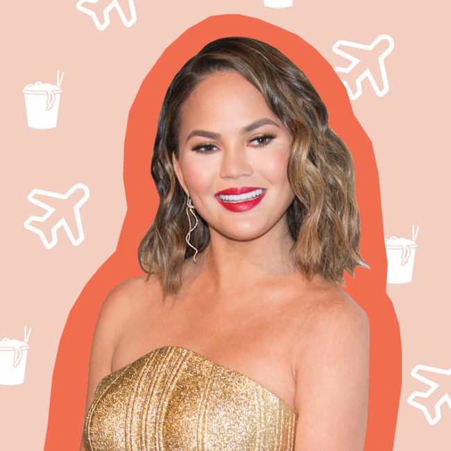 Chrissy Teigen tells us the best meals she's eaten while traveling and what foods she craves on her period