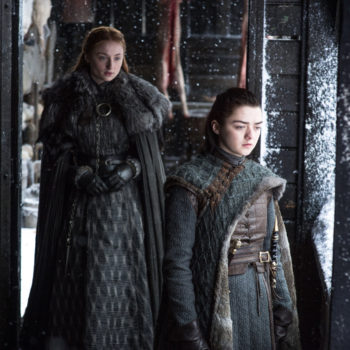 "Sophie Turner likens Sansa and Arya's relationship to a ""horror movie"" on ""Game of Thrones,"" and we couldn't agree more"
