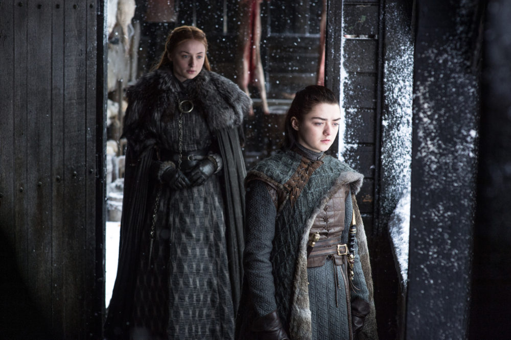 """Sophie Turner likens Sansa and Arya's relationship to a """"horror movie"""" on """"Game of Thrones,"""" and we couldn't agree more"""
