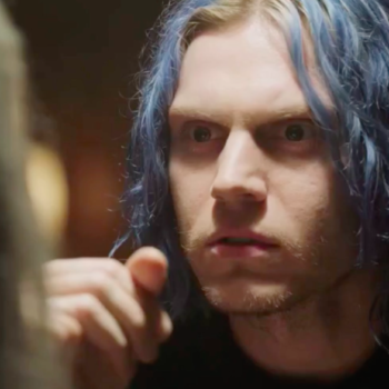 """The first footage of """"American Horror Story: Cult"""" is here, and you're not going to like Evan Peters this time"""