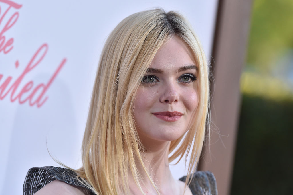 Elle Fanning dyed her blonde hair chestnut brown for fall