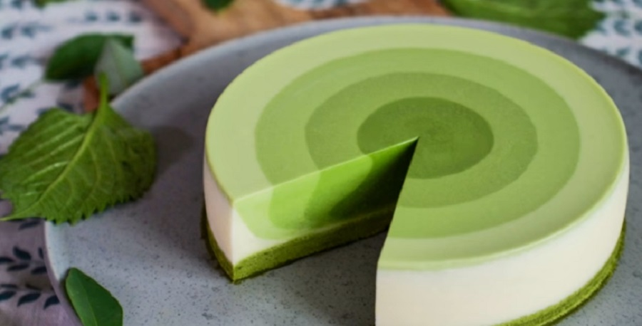 This green tea cake is almost too gorgeous to eat