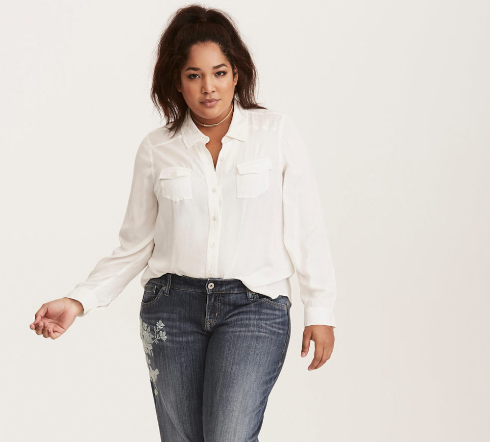 Torrid launched vintage-inspired denim styles that easily transition from work to happy hour