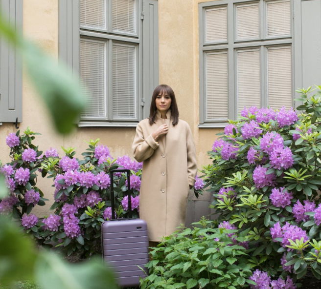 Rashida Jones' luggage collaboration is the stuff of pastel travel dreams