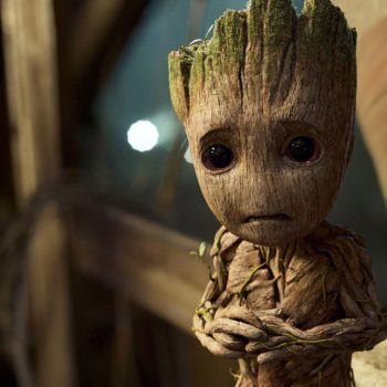 We didn't think it was possible, but the stand-in for Baby Groot is even cuter than actual Baby Groot