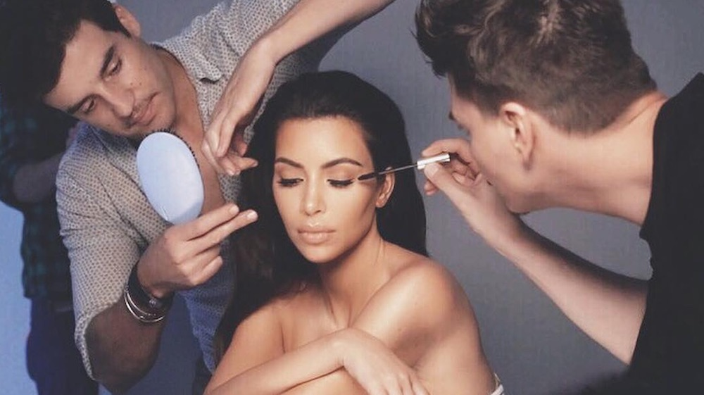 Kim Kardashian's makeup artist teases a secret project, and we have an idea of what it might be