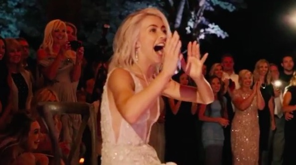 Julianne Hough's bridesmaids surprised her with the most elaborate of choreographed dances at her wedding