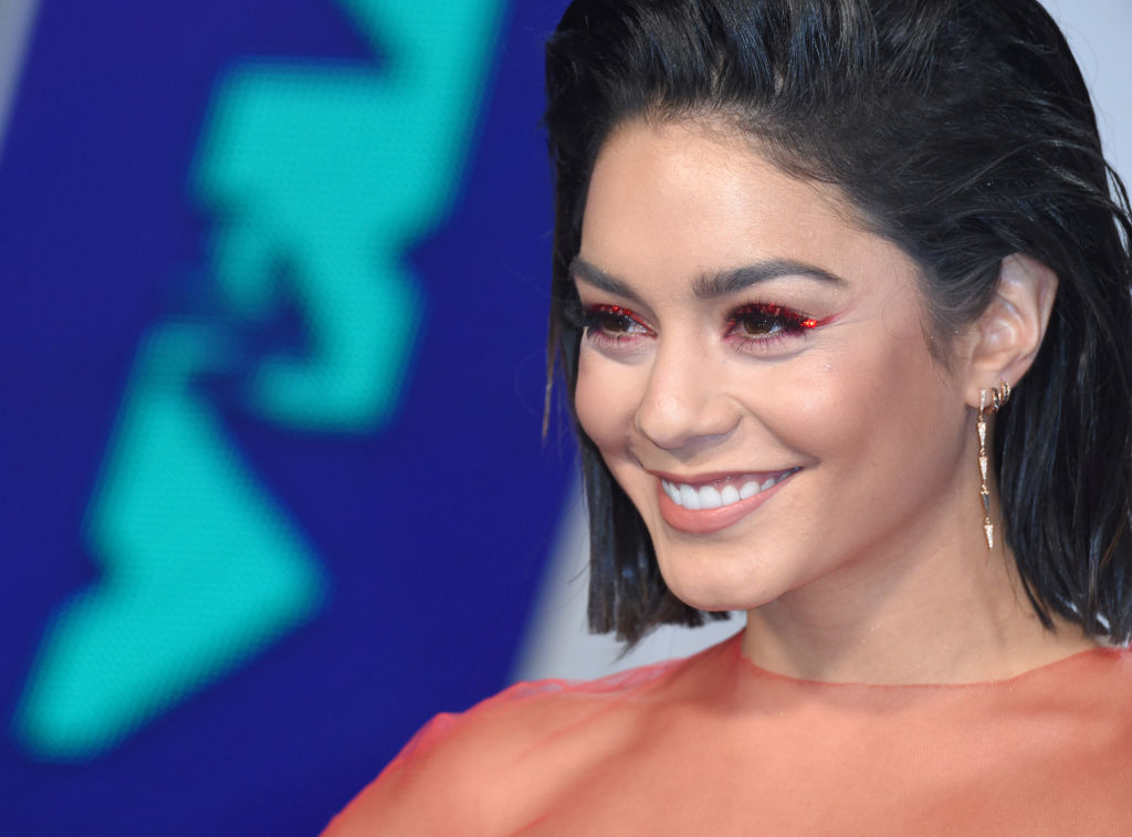 Vanessa Hudgens served up a sheer bird-of-paradise look at the 2017 VMAs