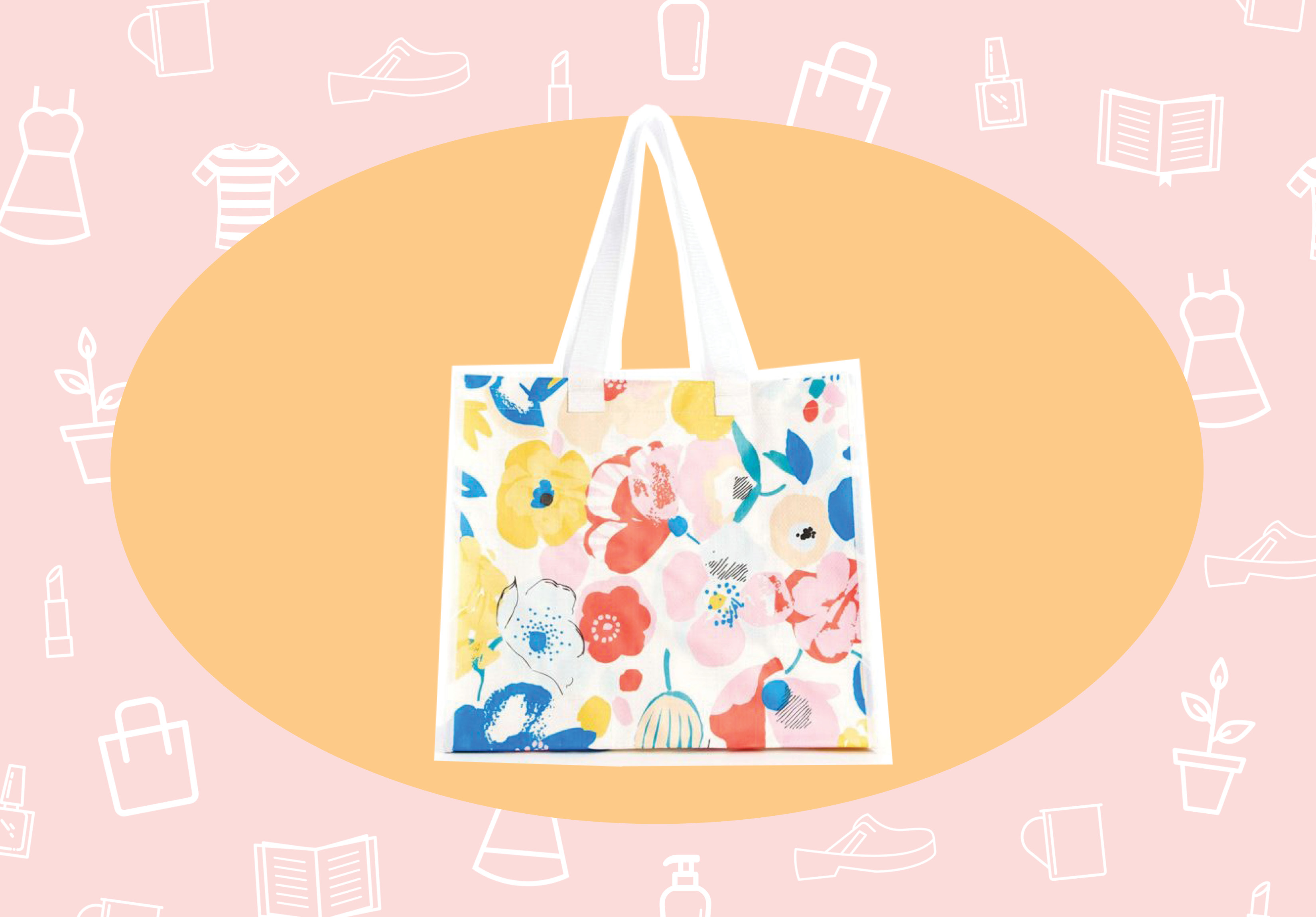 WANT/NEED: A pretty $6 tote that carries all your Trader Joe's snacks, and other stuff you'll want