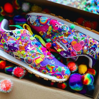Lisa Frank created the only sneakers that will make multicolored dolphins sing