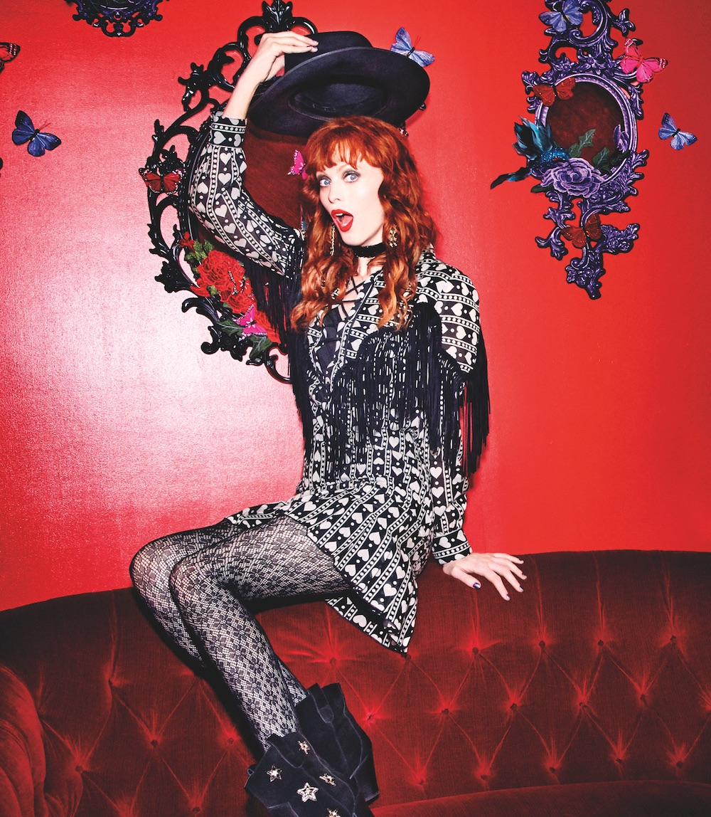 Anna Sui's capsule collection for Macy's is basically a wild west wonderland