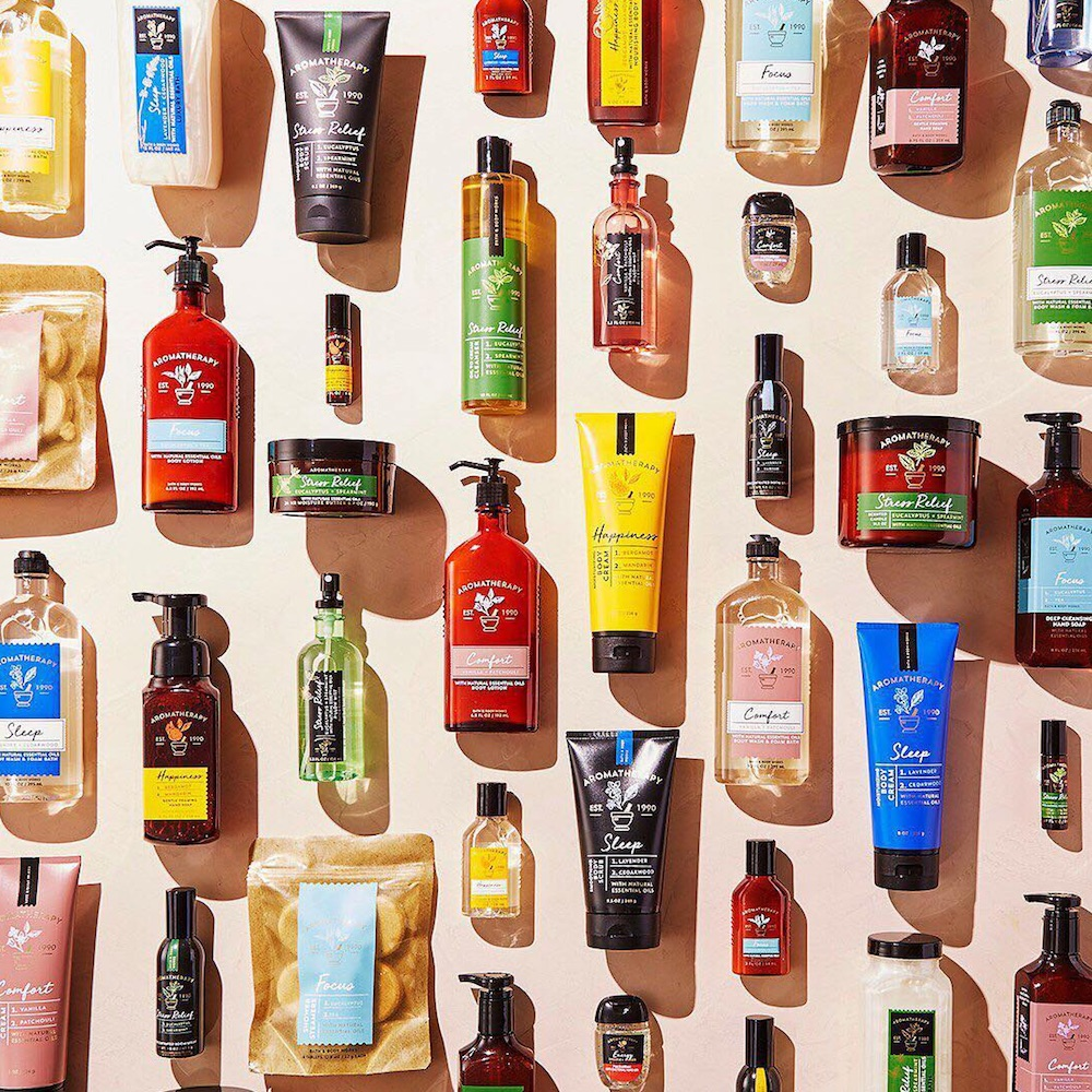 The new Bath and Body Works aromatherapy collection has a little something for everybody
