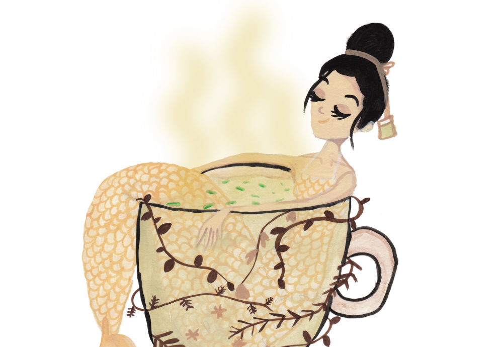 Mermaids would likely appreciate the healing powers of tea