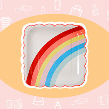WANT/NEED: Rainbow paper plates to cheer up your dinner, and more stuff you'll want to buy