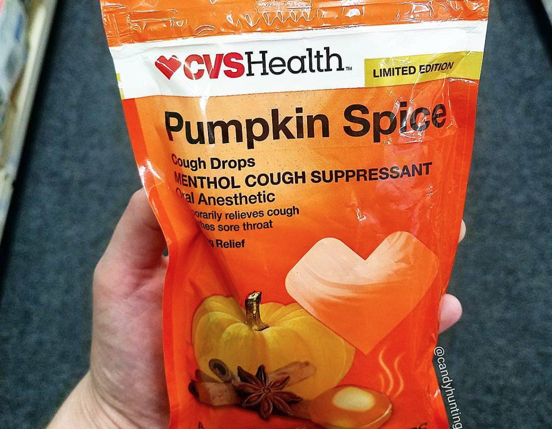 CVS is now selling pumpkin spice cough drops, and resistance is futile