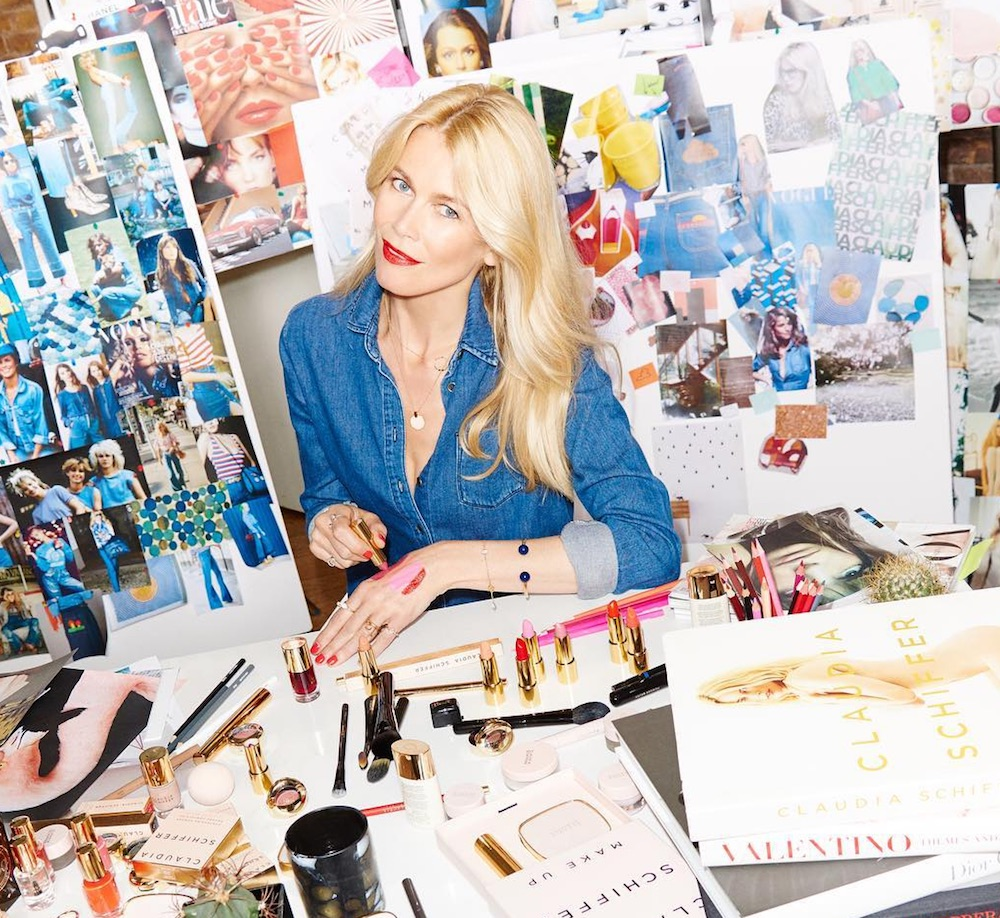 Supermodel Claudia Schiffer just launched her chic makeup line, but there's a catch