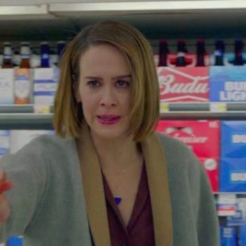 """There's a specific reason Sarah Paulson attacked those clowns with a bottle of rosé during the """"American Horror Story"""" season premiere"""