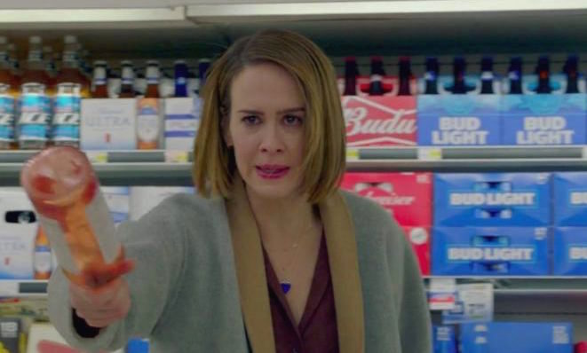"There's a specific reason Sarah Paulson attacked those clowns with a bottle of rosé during the ""American Horror Story"" season premiere"