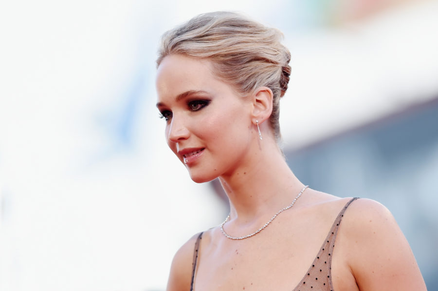 """Jennifer Lawrence wore head-to-toe fishnet at the London premiere of """"mother!"""""""