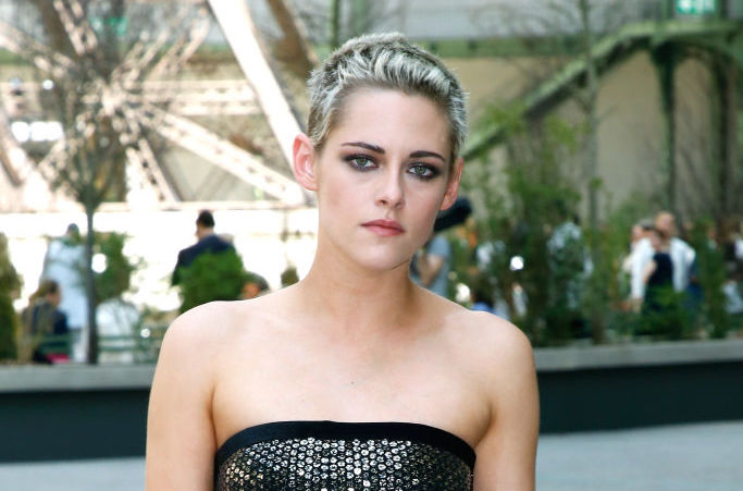 Kristen Stewart's bra and blazer look takes business casual to a new level