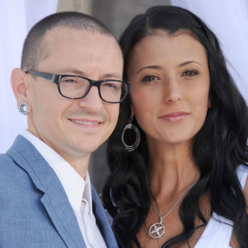 Chester Bennington's widow shared a photo of the smiling Linkin Park singer just days before his suicide