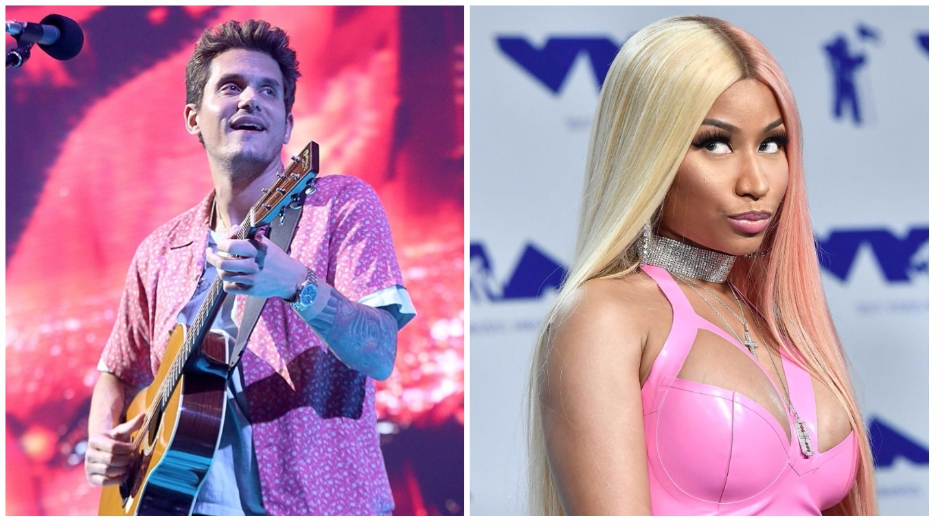 John Mayer and Nicki Minaj are flirting on Twitter, and we're already writing fanfic