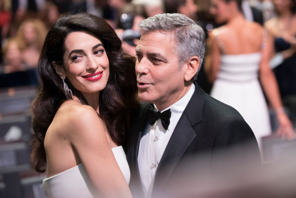 George Clooney says his baby daughter looks just like Amal, and aww